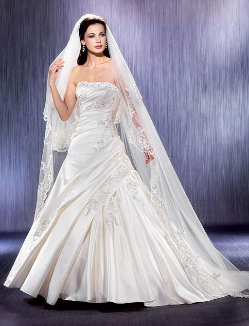 Свадебные платья с фатой фото. Самые пышные свадебные платья